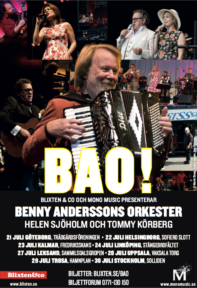 Benny Anderssons Orkester Termine 2016