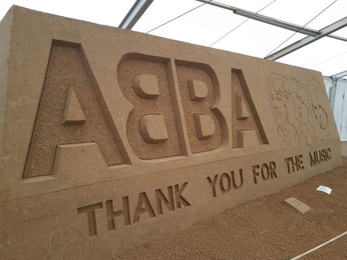 ABBA in Sand