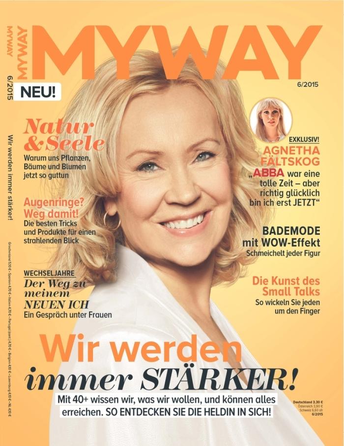 """Agnetha Fältskog im Magazin """"MYWAY"""""""
